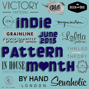 Indie Pattern Month Button 2013