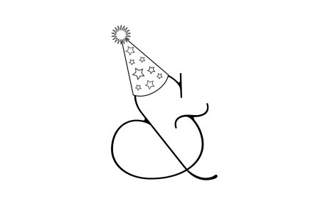 Birthday Ampersand